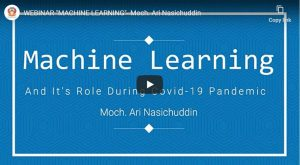 webinar machine learning pandemi covid 19 tkj pnup